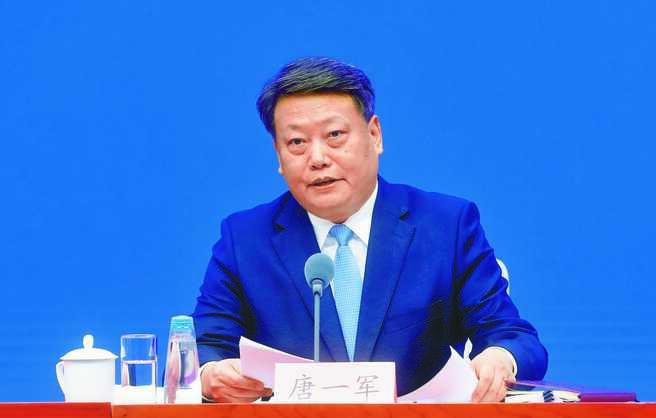 中共中央全面依法治國委員會委員兼辦公室副主任唐一軍。(中新社資料照片)