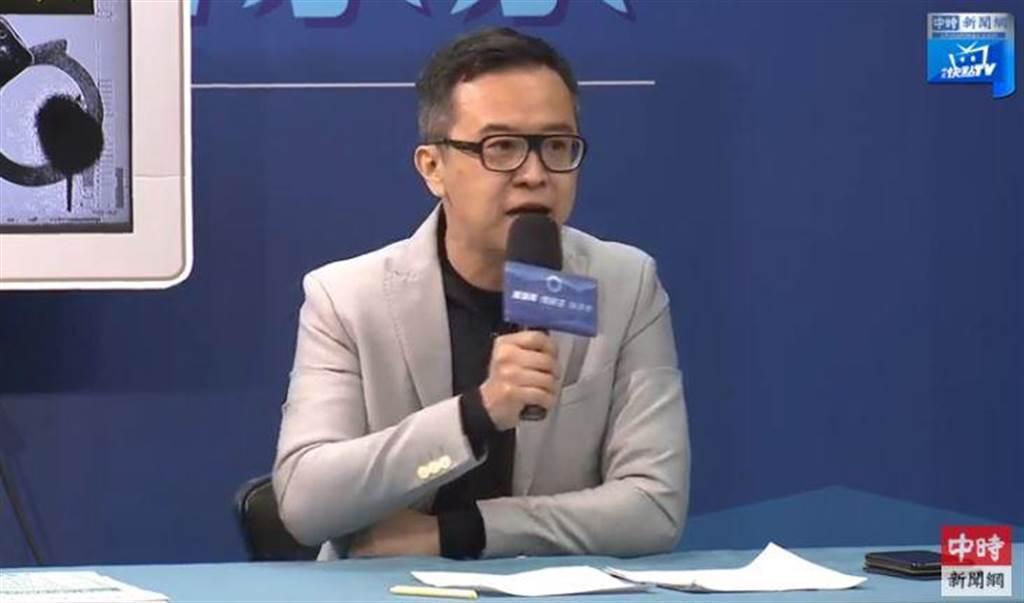 國民黨文傳會副主委黃子哲。(取自中時新聞網直播)