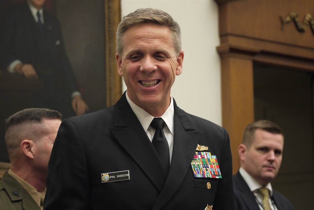 未出席线上会议 美军批中国不遵守协议。图为美军印太司令部司令戴维森(Phil Davidson)海军上将。图/中央社(photo:ChinaTimes)