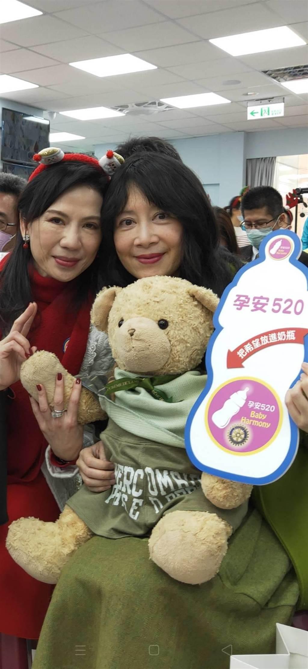 蕭裔芬今年擔任關愛之家代言人,過去蕭敬騰、崔佩儀,也曾為關愛之家代言。(主辦單位提供)