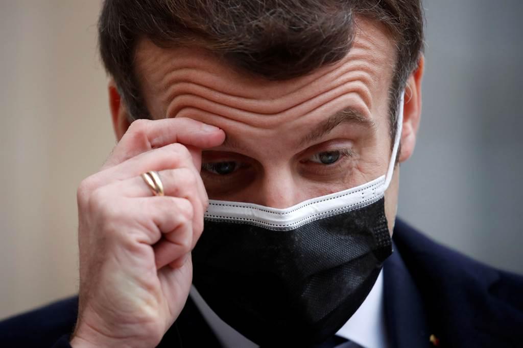 法國政府證實,法國總統馬克宏17日確診新冠肺炎,未來將隔離7天。(路透社)