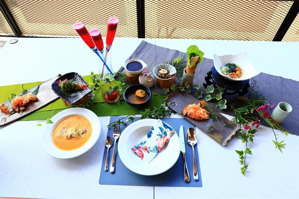 阿管處與五星級飯店主廚賴育敏合作,推出無菜單料理。(阿管處提供/張亦惠嘉縣傳真)