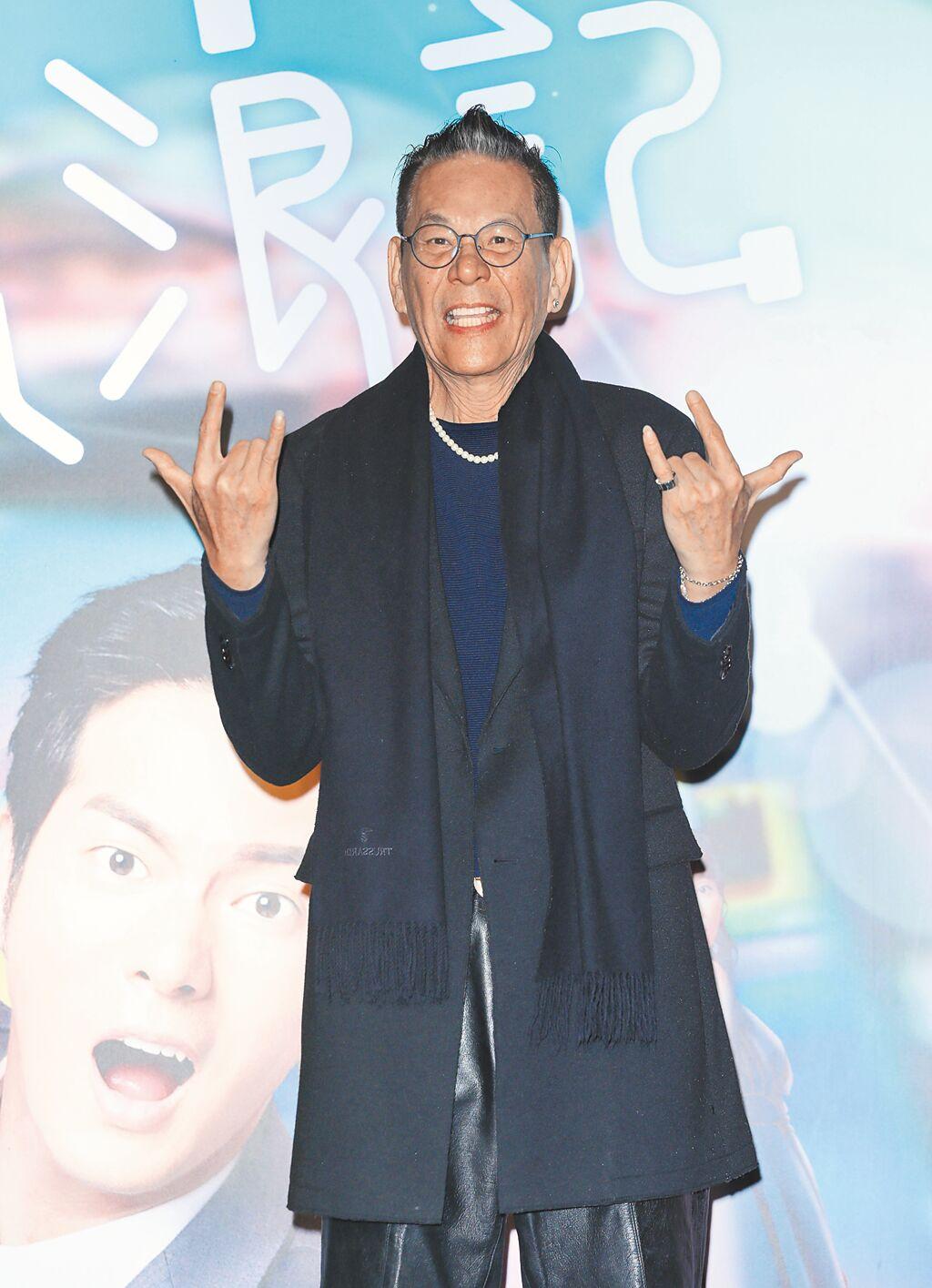 龍劭華一身勁裝參加《戒指流浪記》台北特映會。(石智中攝)