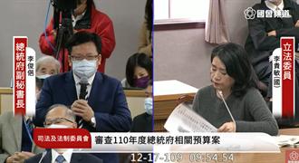 總統府洩密案 李俊俋:目前認定是偽造