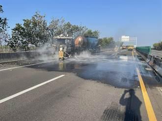 台61線北門段槽車狠撞工程車 2工程人員慘死