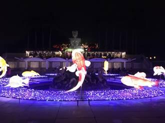 彰化燈會史上最長月影燈季綻輝煌 聖誕老公公悄悄下彰化灑禮物