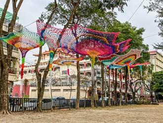 嘉義新港田園地景19日點燈 裝置藝術點亮小鎮。