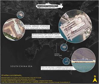 海南三亞基地正在興建大型乾船塢 可容納航空母艦