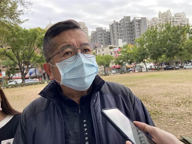 抗議團體要求行政院、高雄市政府公開道歉,求停止「查水表」壓迫反萊豬人士的行為。(盧金足攝)
