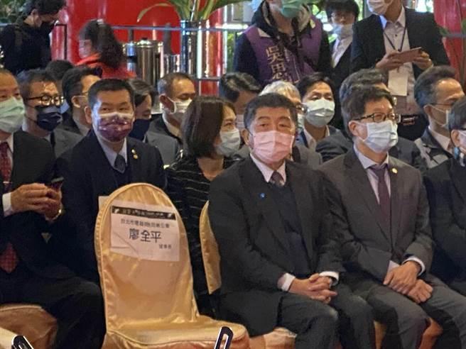 衛福部長陳時中出席台北音響藝術大展。(張薷攝)