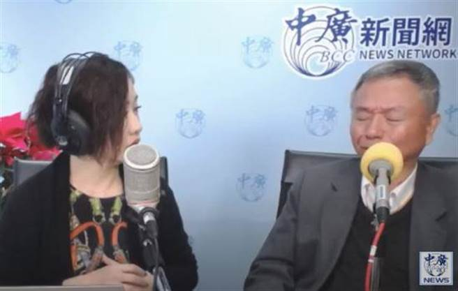 不舍沈智慧绝食住院,杨志良哽咽落泪。(取自中广新闻网youtube)