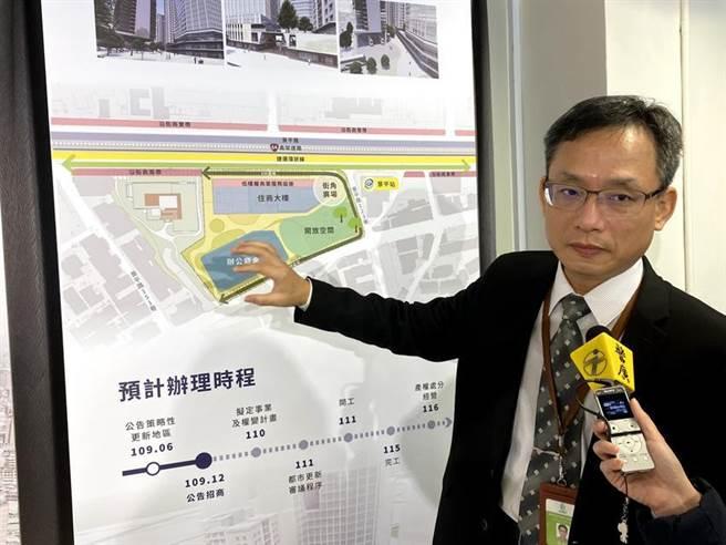 (国家住都中心举行「新北市中和区保二总队基地都市更新案」说明会。图/彭媁琳)