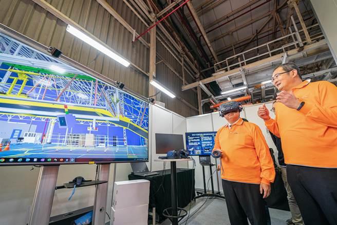 福特六和汽車VR虛擬實境科技應用之數位工廠演示。(福特六和提供)
