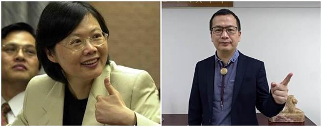 總統蔡英文(左圖)和國民黨台北市議員羅智強(右圖),曾在公平交易委員會一起共事過。(本報系資料照)