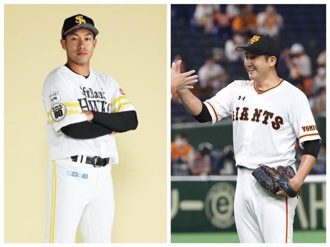 巨人隊菅野智之與軟銀隊柳田悠岐獲選年度MVP。(截自巨人、軟銀官方推特)