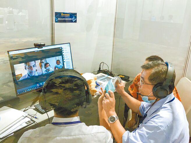 新北以视讯推动国际採洽活动,促成413场次洽谈,创造逾18亿元合作商机。(新北市经发局提供/叶德正新北传真)