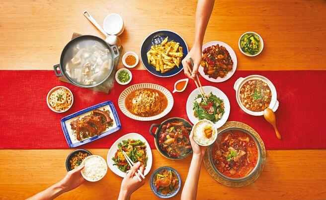 京站的开饭川食堂推出4人开饭,外送特价1900元。(京站提供)