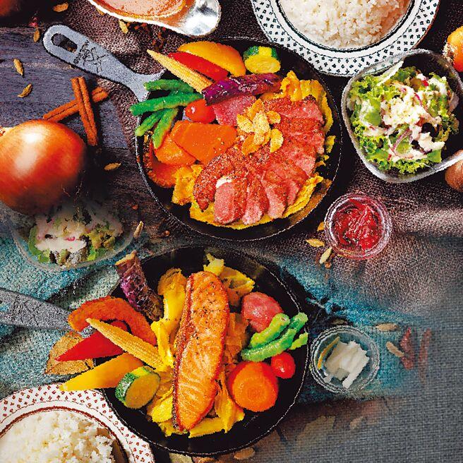 SOGO復兴馆的泰迪农园咖哩跨年双人餐,原价1540元+10%、特价1290元+10%。(SOGO提供)