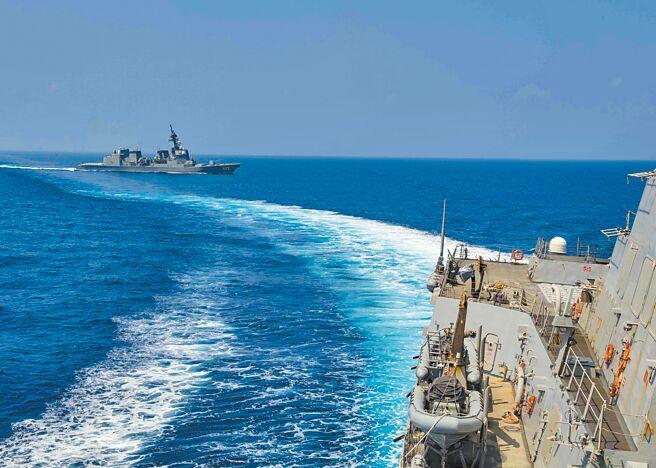 8月18日,美國海軍驅逐艦馬斯廷號進入台海,由北向南航行。(取自美國海軍官網)