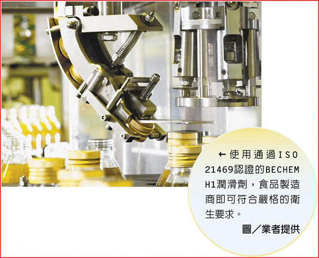 使用通過ISO 21469認證的BECHEM H1潤滑劑,食品製造商即可符合嚴格的衛生要求。圖/業者提供