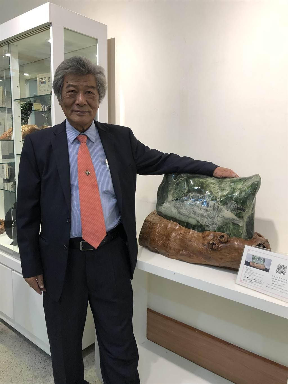 盧復順既是礦場總裁,亦是長期推廣台灣玉的藏家。(李怡芸攝)