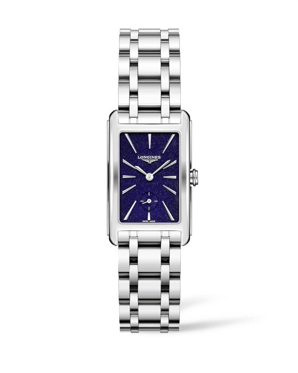 浪琴表DolceVita多情系列星空藍女士腕表,4萬1500元。(Longines提供)