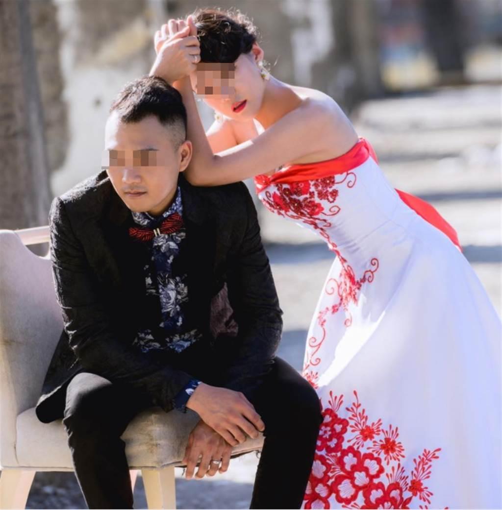 郭主義愛女9月前才將個人臉書的大頭貼更換為幸福的婚紗照。(翻攝當事人臉書)