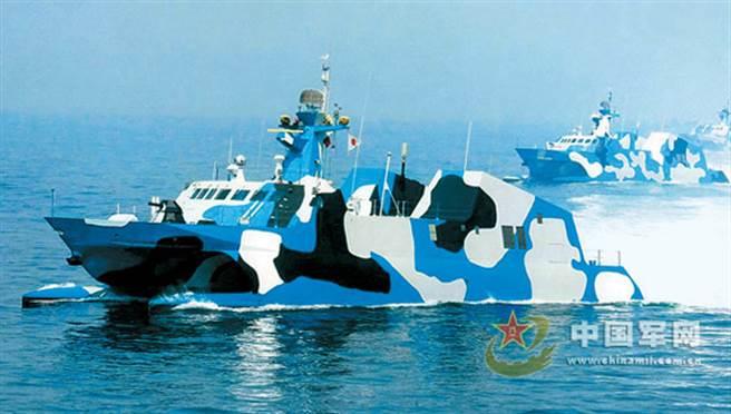 建造於2003年的共軍022輕巡防艦原是設計來對美軍航母編隊進行干擾,為共軍兩棲部隊登陸台灣爭取時間。2008年已全數退役封存。(圖/中國軍網)