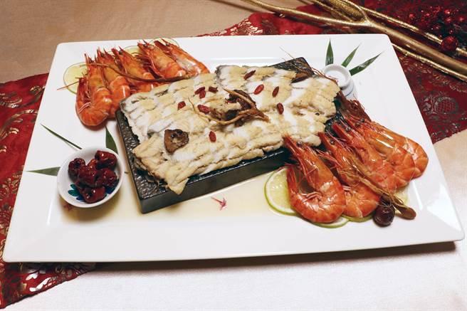 麗寶福容大飯店推出五道美味外帶年菜,單道千元有找超澎派。(麗寶福容大飯店提供/陳淑娥台中傳真)
