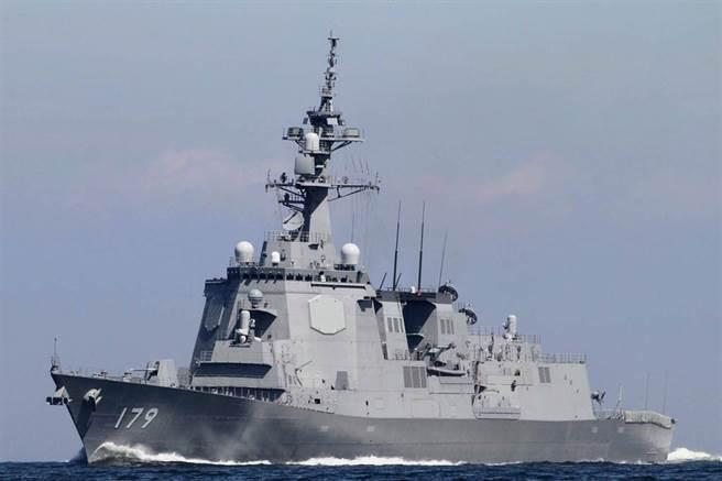 日本最新型的「摩耶號」神盾驅逐艦,能同時應對巡弋飛彈、彈道飛彈與空中的戰機威脅。長170米,寬21米。(圖/日本海上自衛隊)