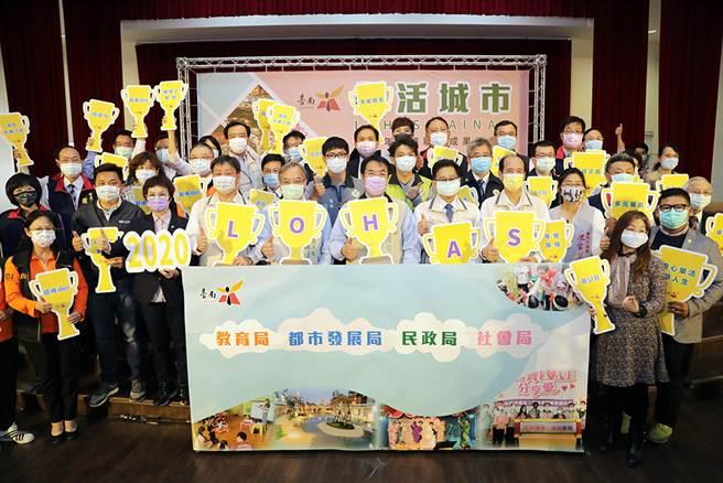 ▲台南(18)日与各局处共同召开乐活城市年终成果发表记者会。(图/台南市政府提供)