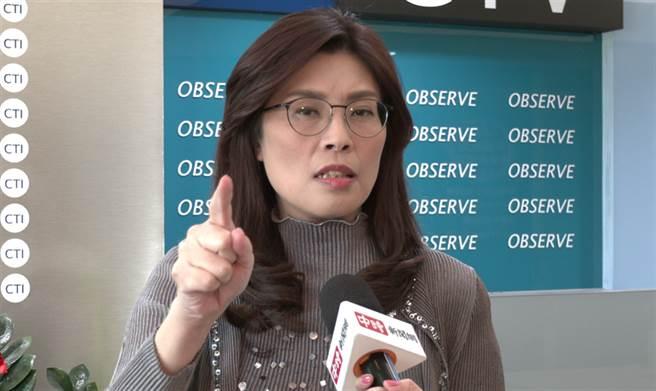 国民党立委 郑丽文。(摄影/范佐意)