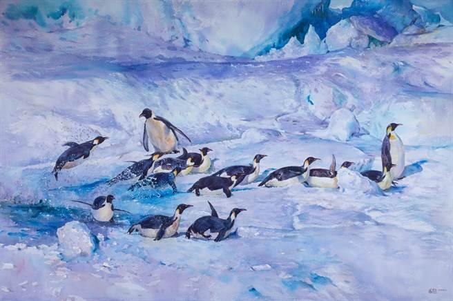 海科館南極生態展開幕 李鴻源、張曉風出席揭幕。(海科館提供/吳康瑋基隆傳真)