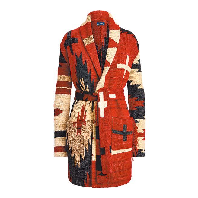 Polo Ralph Lauren圖騰針織外套,4萬4880元。(Polo Ralph Lauren提供)