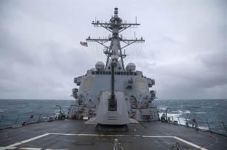 今年第12度 美飛彈驅逐艦清晨經台灣海峽還PO照