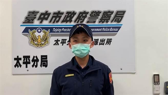 太平警分局新平派出所副所長柯閔翔說,警方19日受理陳姓業者報案,已鎖定特定對象。(太平警分局提供/張妍溱台中傳真)