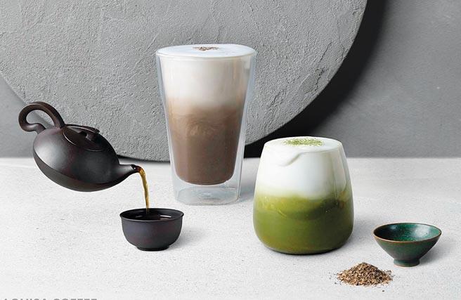 「100%一番抹茶鮮奶」與「大臣賞冠軍茶匠焙茶鮮奶茶」,將列入長期獨家販售MENU。圖/路易莎咖啡提供