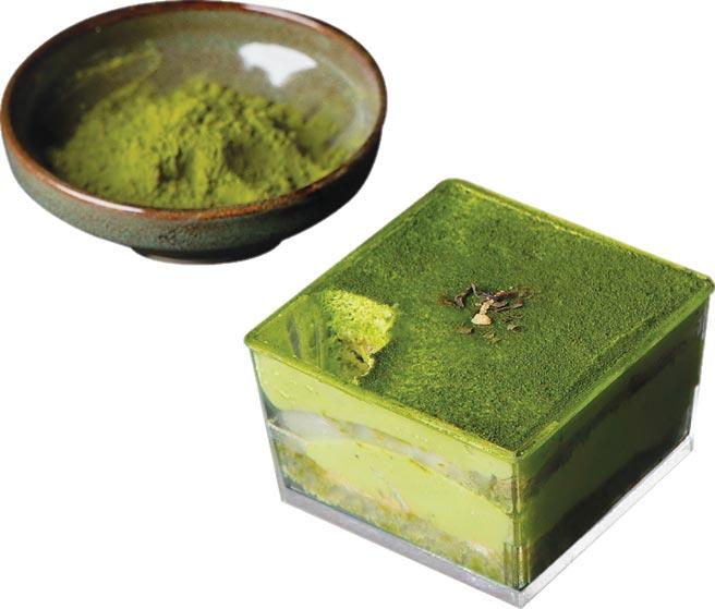 路易莎推出「金天閣抹茶甜點」系列後受到市場歡迎,圖為每杯85元的「金天閣抹茶提拉米蘇」。圖/路易莎咖啡提供