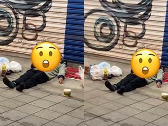 街友睡覺蓋「雙貓棉被」取暖 當地人曝真相:他真心愛貓