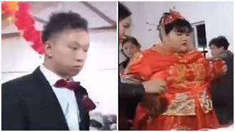 體重百公斤富家女結婚 攜上億嫁妝 曝照網驚:1斤肉10萬
