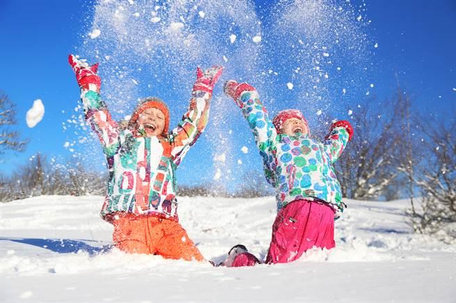 雅庫次克的學童竟在零下48度的低溫中,和朋友在雪地裡玩耍,讓網友都相當震驚。(示意圖/達志影像)
