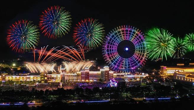 睽違三年,麗寶夜空將綻放6000發煙火。(麗寶樂園渡假區提供/陳淑娥台中傳真)