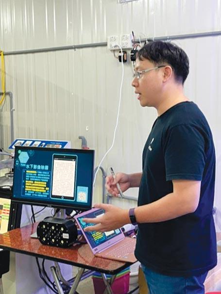 海盛科技導入水下監控系統,協助漁民掌控魚群生長資訊,提高魚貨產能。圖/業者提供
