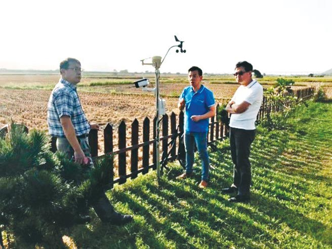 智農天氣探長協助在地農友監控農田。圖/業者提供