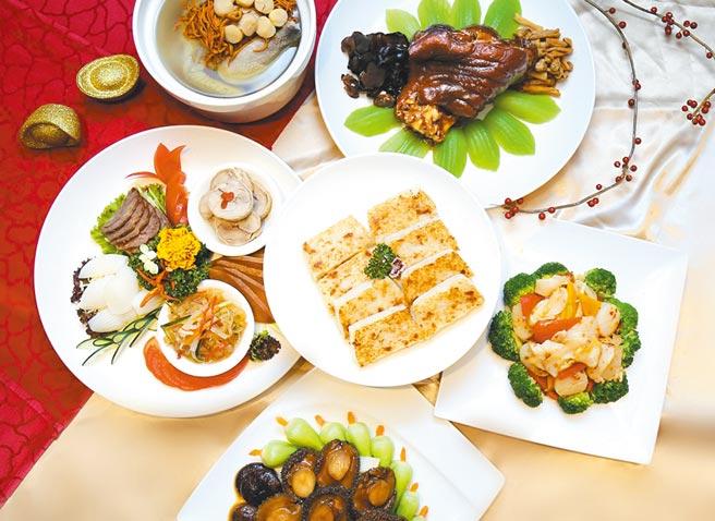 台北王朝推出「金牛喜氣旺」年菜外帶組合,原價7,500元,優惠價6,000元盡享六道式年菜。圖/業者提供