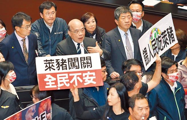 內閣成員為辯護萊豬政策,猶如化身「鬥雞」,屢屢在立院挑釁在野黨立委。(本報資料照片)