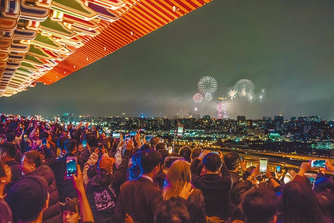 台北圓山大飯店坐擁看夜景及煙火的絕佳視野。(台北圓山大飯店提供)
