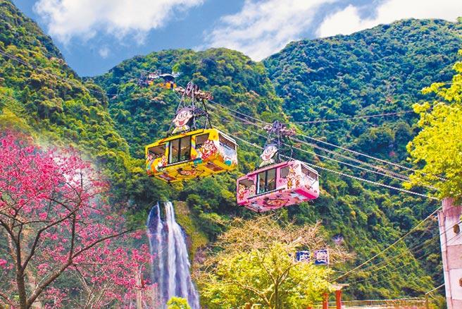 雲仙樂園擁有全台首座大型水晶空中纜車。(雲仙樂園提供)