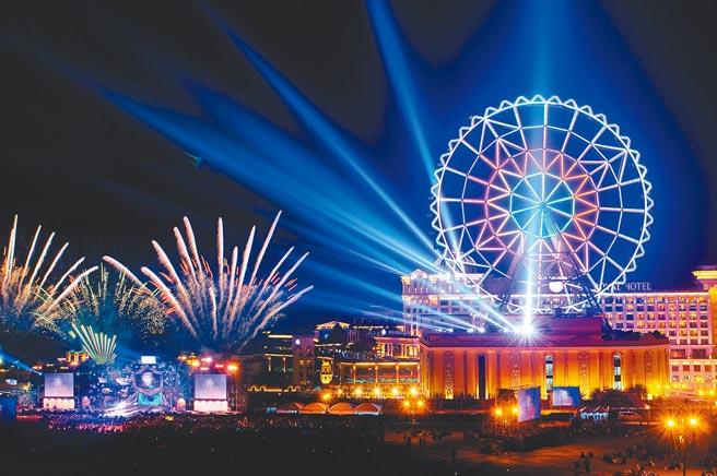 義大遊樂世界將於今年12月31日跨年夜施放10分10秒的煙火秀。(義大遊樂世界提供)