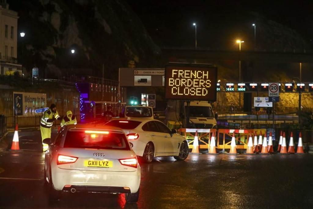 法国周日关闭与英国边境。(美联社)(photo:ChinaTimes)